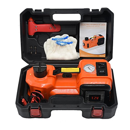 MarchInn 12V DC 5.0T(11000lb) Electric Hydraulic Floor Jack