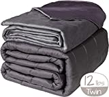Active Corner 12 lb Weighted Blanket | 48'x72' | Twin Size Heavy Blanket with All Seasons Bamboo/Minky Cover | Designed for Teens and Adults Weighing 100-140 lbs | Comfort Series by Cozy Mill