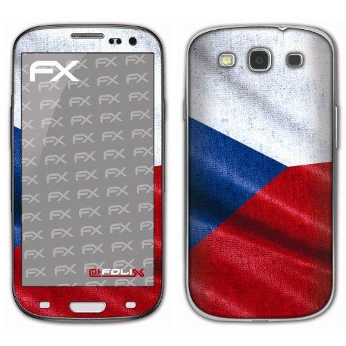 atFoliX voetbal 2012 designfolie voor Samsung Galaxy S3 GT-I9300, Tsjechische vlag, Afbeelding