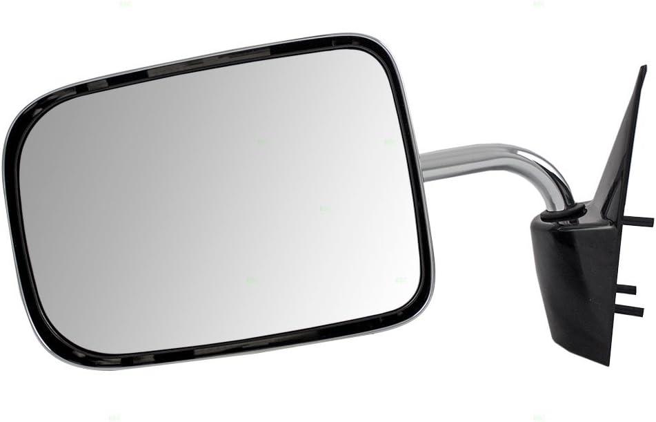 Brock Replacement Driver Side Manual モデル着用&注目アイテム Mirror Chrome 数量は多 6x9 Foldaway