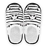Mnsruu Zapatillas de algodón para hombre y mujer, con diseño de oso panda, color, talla 37/39.5 EU