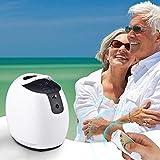 KKTECT Oxigenoterapia Concentrador de oxígeno, Máquina de oxígeno portátil ajustable 1-7L / min para uso doméstico y de viaje