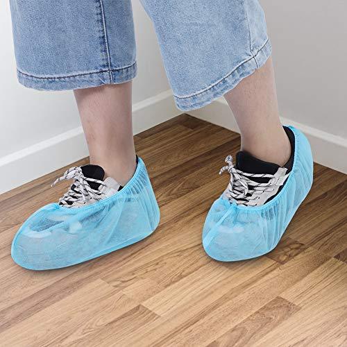 𝐑𝐞𝐠𝐚𝐥𝐨 𝐝𝐞 𝐍𝐚𝒗𝐢𝐝𝐚𝐝 Cubiertas de Zapatos reciclables a Prueba de Polvo, Cubiertas de Zapatos de casa Azul Claro, 100 Piezas de elásticos no tóxicos para Todos los Zapatos de Hombres y Muj
