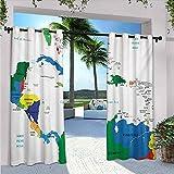 Mapa de las islas Centroamérica y el Caribe Mapas Países Ciudades Nombres Regiones Lugares, Aislamiento térmico, sombreado e impermeable, 84 x 72 pulgadas, multicolor