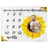 SOONHUA Neugeborene Geschenke Baby Monatliche Meilenstein Decke Monatsdecke Baby für Bilder Track Alter & Wachstum für Junge oder Mädchen