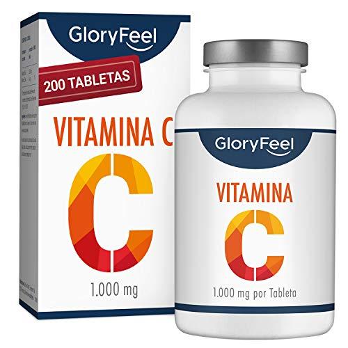 GloryFeel® Vitamina C de dosis alta 1000 mg - Reduce el cansancio y la fatiga y...
