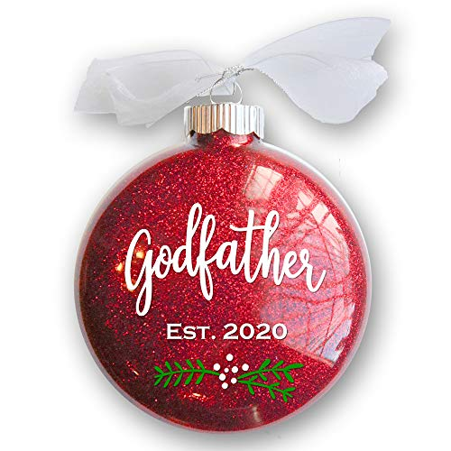 Firefly Wishes Godfather Christmas Ornament 2020, Christening or Baptism Gift for Godparents