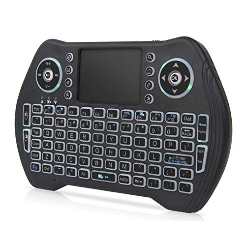 Backlit Mini Wireless Keyboard with Touchpad Mouse Combo
