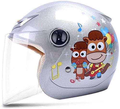 LBWNB La Mitad de los niños de Dibujos Animados Casco eléctrico Chico...