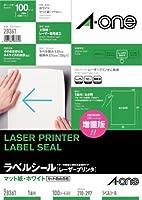 エーワン レーザープリンタラベル 1面100入 28361 00001991【まとめ買い3パックセット】