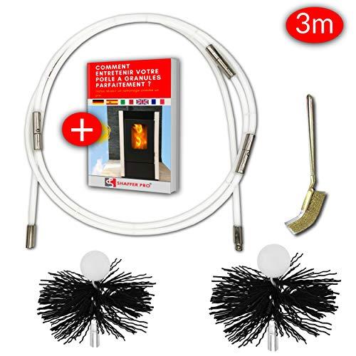 SHAFFER PRO - kit de ramonage poele pellet 3 mètres - herisson ramonage 80 et 100 mm EASYFLEX...
