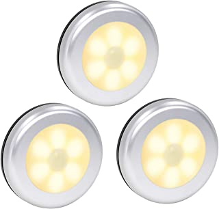 Motion Sensor Lights, Battery Operated LED Night Light Safety Lamp Step Lights Under Cabinet Lights for Stair, Bathroom, Closet, Hallway, Path