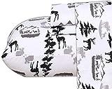 Ruvanti 100% Cotton 3 Pcs Flannel Sheets Twin Christmas Deer,Deep Pocket-Warm-Super Soft - Breathable Moisture Wicking Flannel Kids Bedding Sheet Set Twin Include Flat Sheet, Fitted Sheet 1 Pillowcase