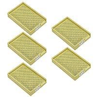 uxcell ネジトレー ネジホルダー 防静止 硬プラスチック製 1.0mm-1.5mm イエロー 5個入