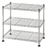 Muscle Rack WS181018-C Steel Adjustable Wire Shelving, 3 Shelves, Chrome, 18' Height, 18' Width, 264 lb. Load Capacity
