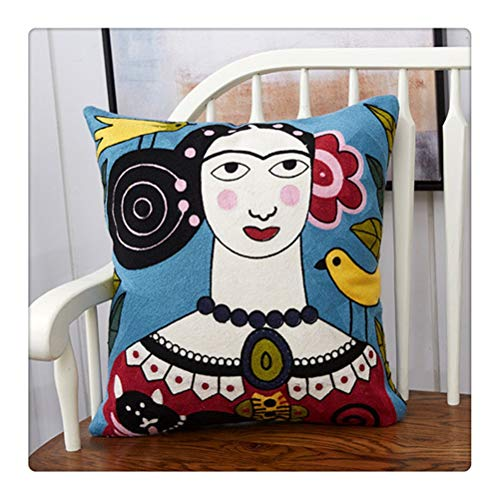 WNDRZ Cojín Decorativo De Estilo Exótico para Mujer, Cojín Decorativo para Sofá, Almohada Impresa DIY, Cojín para Silla De Coche (Color : Color 4)
