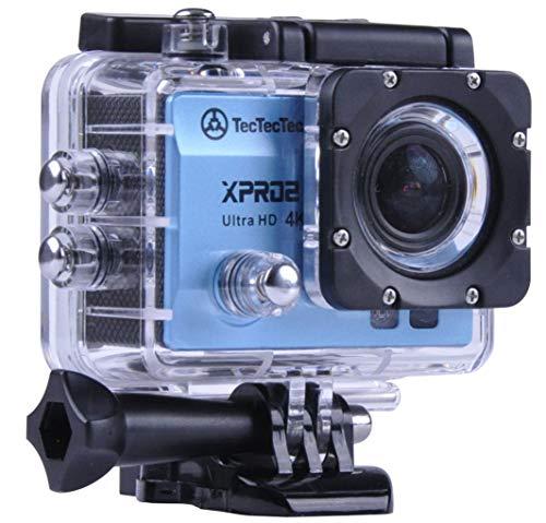 TecTecTec XPRO2 Cámara Deportiva 4K Ultra HD WiFi con Carcasa Sumergible Videocámara Deportiva 4K