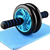 AB Roller Abdominal Roller Roue Musculaire Exerciseur pour Gym Fitness Bleu