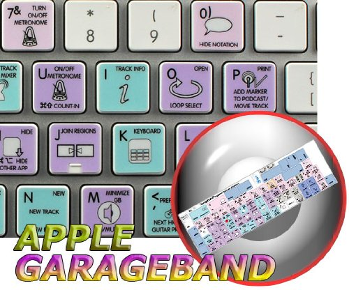GARAGEBAND Galaxy Series Keyboard Stickers Shortcuts Work with Apple
