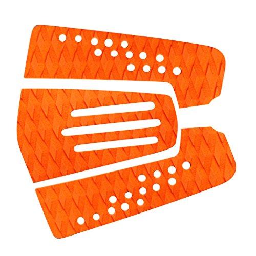 Gazechimp 3x EVA Almohadilla de Tracción para Cola de Tabla de Surf Tail Pads - Naranja