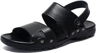 SHANLY Été Grande Taille Sandales en Cuir Ouverte Toed Extérieure Flip Flops Slip sur Piscine Chaussures Marche Trekking P...