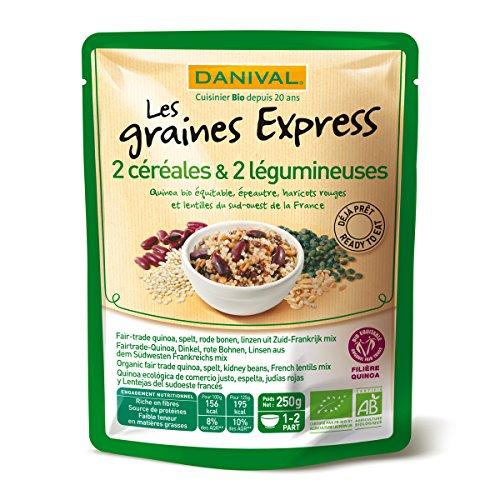Quinoa, espelta, lentejas y judias express AB Danival 250g