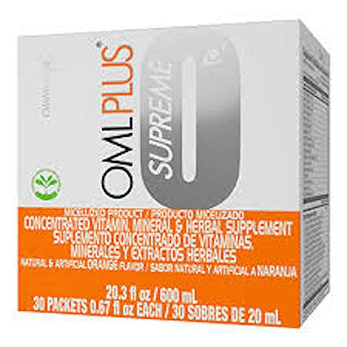 Omnilife OML Plus Supreme Box w/30 Packets 600 mililiter, (Orange/Naranja)