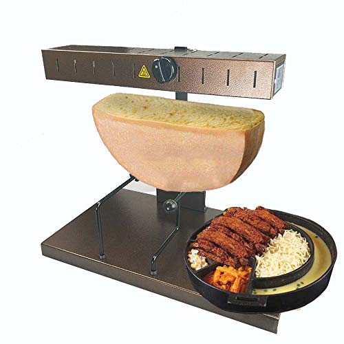 Li Bai Raclette Cheese Melter Commercial Cheese Melting Machine Electric For A Half of Cheese Wheel Height Adjustable 650W(850A)