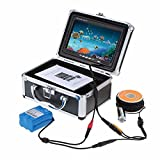 Eyoyo 50m Handheld System de 7 pulgadas HD monitor 1000tvl inoxidable cámara submarina del Mar de Hielo buscador de los pescados Fish Finder con un llavero (50M con DVR)