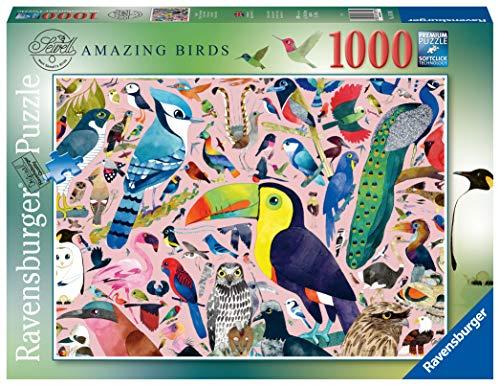 Ravensburger 16769 Matt Sewell's Amazing Birds Puzzle 1000 Teile für Erwachsene & Kinder ab 12 Jahren