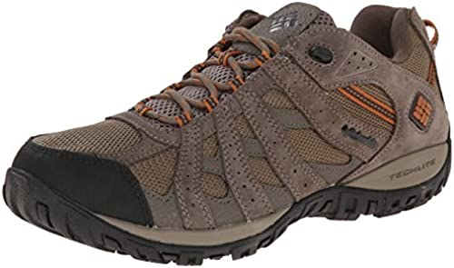 Columbia Men& 039;s rotmond Waterproof Wide Hiking schuhe, Pebble, Dark Ginger, 7 2E US