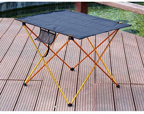 Mesa al aire libre portátil plegable camping muebles mesa de ordenador picnic luz antideslizante plegable mesa LGolden