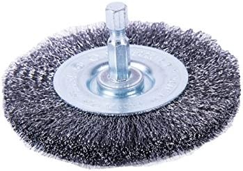 Forney 72792 3 Inch Wire Fine Crimped Wheel with 1/4 Inch Shank
