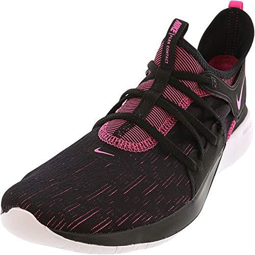 Nike Womens Flex Contact 3 Trainers Flexible Running Shoes Black 9 Medium (B,M)