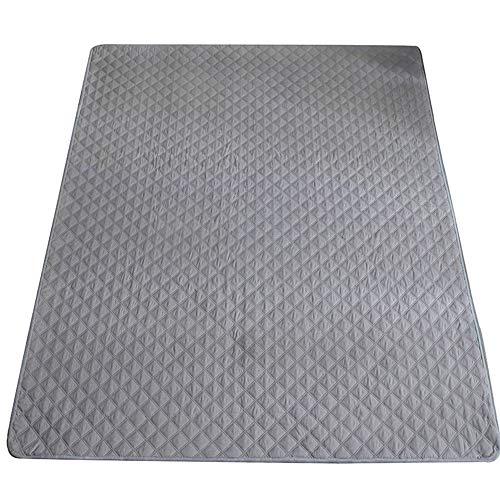 UBVV Mattress Underlay Mattress Protector Between Slatted Frame and Mattress, Waterproof Breathable Cotton Mattress Topper 90 x 200 cm (Grey)
