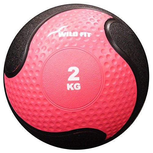 [ WILD FIT ワイルドフィット ] メディシンボール 2kg (長さ: 約Φ20cm)【 ピンク 】[ Y902 ]