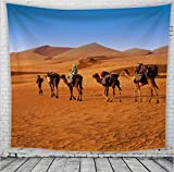 chaoaihekele Home Art Deco Wandbehang Wandteppich Wüste Kamel Europa Und Amerika Dekorativer Hintergrundstoff Hängender Stoff B