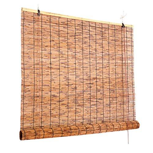 Persianas enrollables exterior, Persianas enrollables de bambú, persianas opacas naturales for ventanas, persianas romanas con filtro de luz, for patio de puerta con ventana ( Size : 100*250cm )