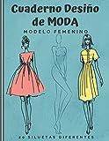 Cuaderno Diseño de Moda: Cuaderno de bocetos para crear sus estilos de moda | 480 siluetas de mujeres para personalizar | modelo femenin | idea de regalo