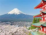 Pintura de diamante montaña Fuji en Japón 3D taladro redondo completo bordado de diamantes paisaje artesanía regalo hecho a mano A4 60x80cm