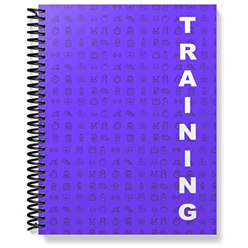 gestern.heute.morgen - Das geniale Trainingstagebuch für Fitness, Krafttraining, Crossfit, oder zum Abnehmen, Fett verbrennen | Dein Power Planer im praktischen Ringbuch DIN A6 Format - Hell