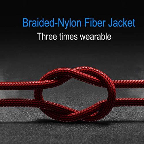 USB Typ C Kabel 5A, AKOADA [3 Stück 0.5M+1M+2M] Schnell Ladekabel für Huawei P30 P20 pro P20 Mate 30 20 10 pro Honor 10 V10 P10 Plus Mate 30 pro usw(Rot) - 6