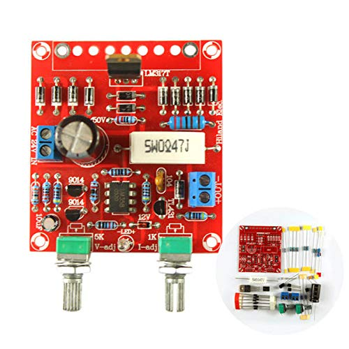 HILAND DIY 0-30V 0-1A LM317 Kit De Alimentación De Corriente De Voltaje Ajustable con Instrucción LED