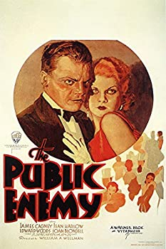 American Gift Services - The Public Enemy Vintage James Cagney Jean Harlow Movie Poster - 24x36