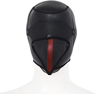 SLH All-inclusive Rubber Headgear Blindfold Detachable Mask Personality Samurai Role-playing Helmet T-shirt
