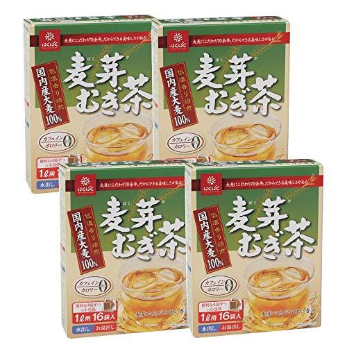 スマートマットライト はくばく 麦芽むぎ茶8g(16袋)×4個