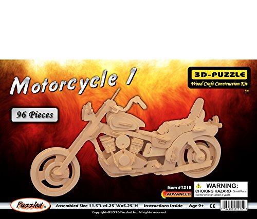 SODIAL(R) Kit de Construction/Puzzles 3D de modele de Harley Moto en Bois
