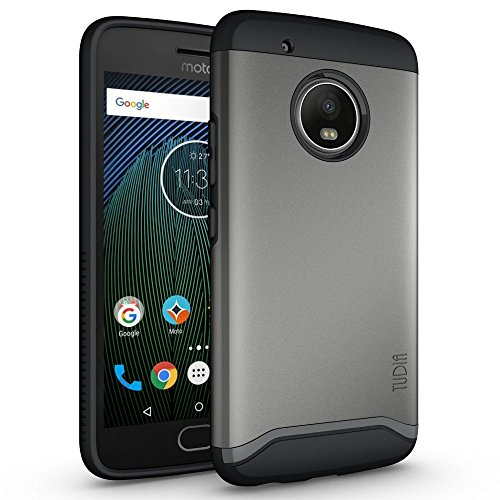 TUDIA Merge Designed for Motorola Moto G5 Plus Case with Dual Layer Protection (Metal Slate)