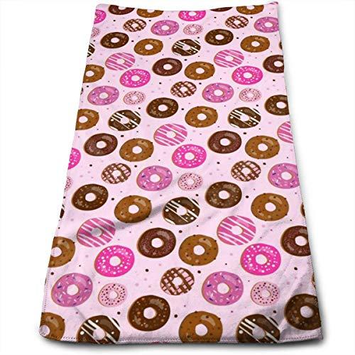 Donut - Toalla de mano (microfibra, secado rápido, muy suave, extra absorbente, para baño, spa y gimnasio, 30,5 x 60,4 cm)