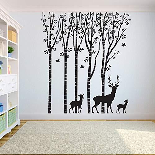 Hetingyue muurstickers, boom des levens muurstickers, muurstickers, motief boomwortel van het leven, hert, decoratie voor yoga-studio
